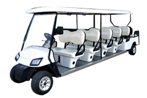 10+2 Seats 6.5kw Lithium Battery Max Loading Electric Golf Cart